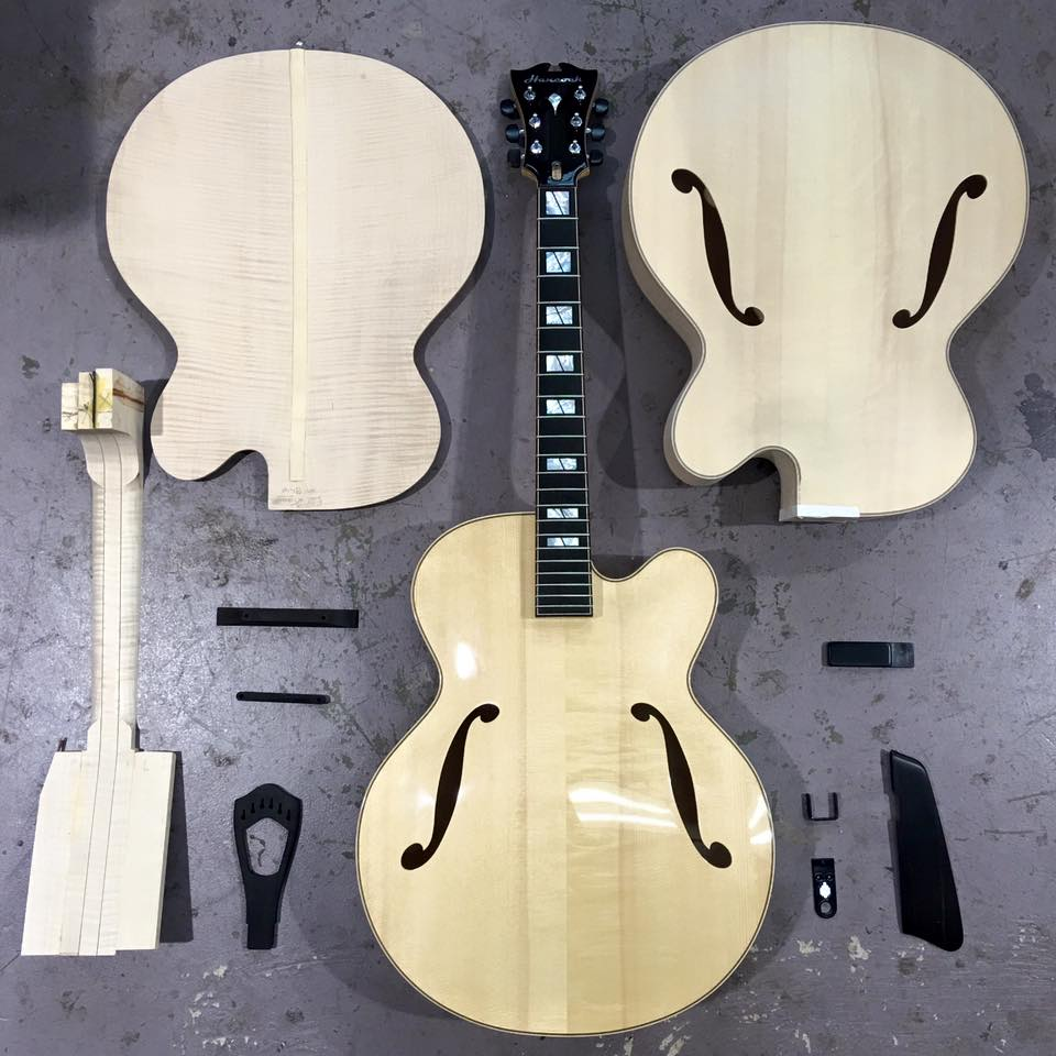 Hancock Archtop Guitars - Progress of 2016 Collection