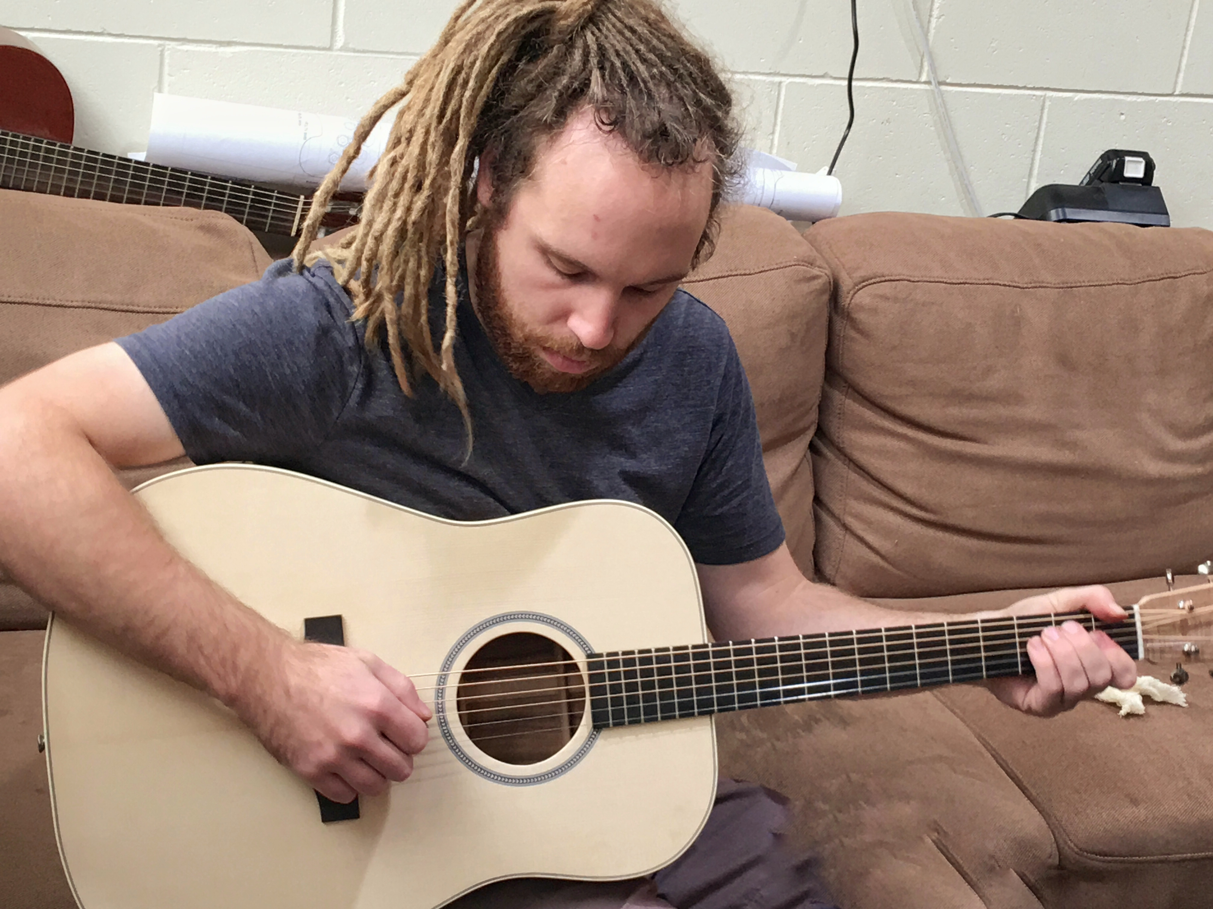 Jack with his pre-war Martin style acoustic guitar