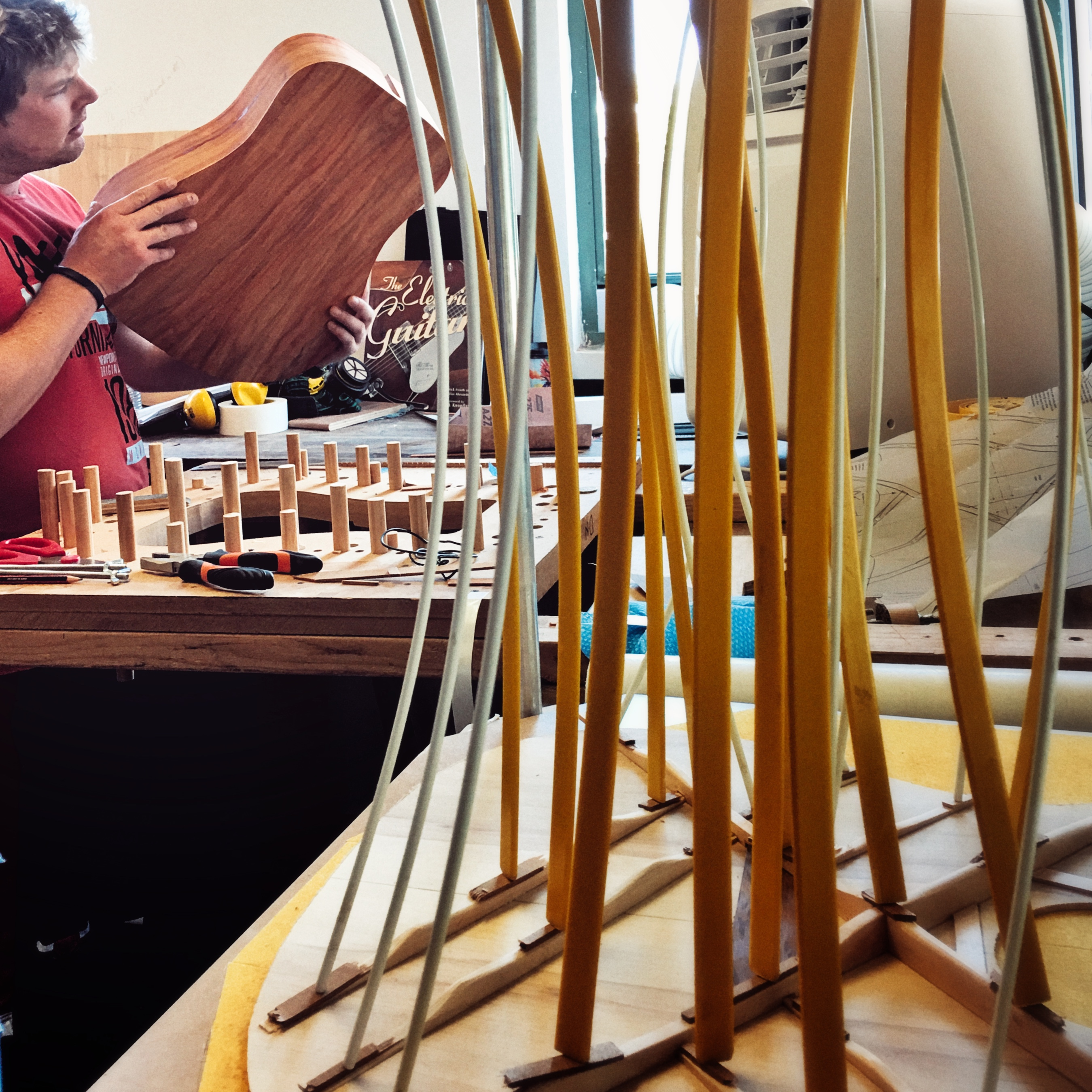 Building a Dreadnought at Noosa Guitar Making Course